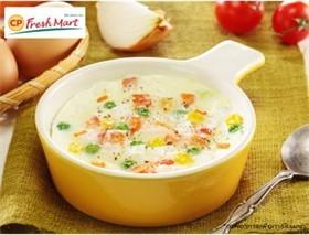 ไข่ตุ๋นกับผัก 5 สีเพื่อสุขภาพ
