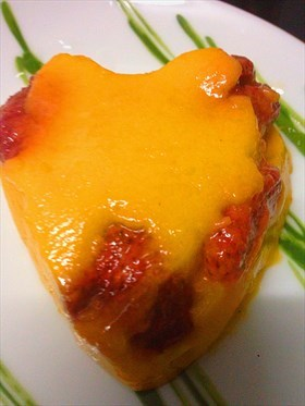 Mango and Strawberry Pudding